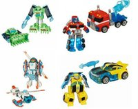 Wholesale New Loose Heroes Rescue Bots Transformation Boulder the Construction Optimus Prime Bumblebee deformation Figures kids Gift Toy