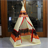Wholesale Indian Teepee Canopy Tents New Children Tent Baby Toy House Indoor Outdoor Game Play House Fashion Play Tent