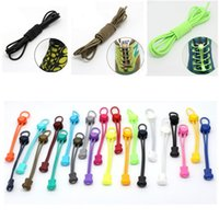 Wholesale 2016 Hot New Jogging Elastic Locking Shoelaces For Trainer Triathlon Shoe Laces Running Multi color selection