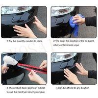 Cheap 1 Pair Car Styling Black Carbon Fiber Bumpers Anti-rub Anti Collision Strips Auto Accessories Bumper Strip