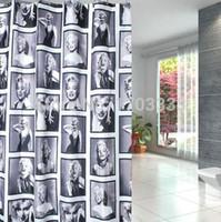 Wholesale Hot Marilyn Marylin Monroe Polyester Shower Curtain Fashion Star Waterproof Shower Curtain DHL Fedex