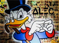 Wholesale Framed Scrooge High Quality genuine Hand Painted Wall Decor Alec monopoly Pop Art Oil Painting On Canvas Multi Size shi n