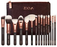 Wholesale 2016 Newest Zoeva Rose Golden Makeup Brush Kits genuine quality face and eye cosmetics brushes made of synthetic fiber hair