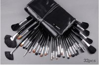 leather tools - MC brand Professional Makeup Brushes Make Up Cosmetic Brush Set Kit Tool Roll Up leather Case