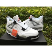 air jordans black - CHEAP Air Jordan Retro IV White Cement OG Release Black Grey Red Jordans Retros White Cement With Original Box