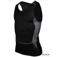 Precio de Capas base-Hombres-Venta al por mayor compresión camiseta apretada Capa Base de fitness entrenamiento de la gimnasia chaleco de las tapas del tanque S-XXL caliente