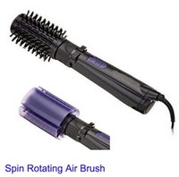 air hair brush - Multi function electric rotary automatic volume heating big comb electric blowing straight hair curlers Spin Air Brush Rotating Styling Too