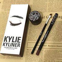 Wholesale Kyliner Kit Eyeliner Set Eyeliner Pencil Eye Shadow Brush three piece Set Kylie Cosmetics Kit VS Kylie Mascara DHL