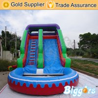 backyard water slides - Kids Inflatable Slide With Pool Jumping Water Slides Toys For Backyard