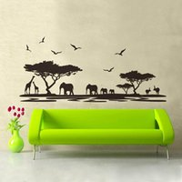 african wall decals - New Fashion African Animals Wall Sticker Mural Home Decal Removable Art Vinyl Room Decor DIY