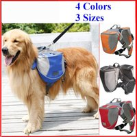 backpack for dogs - 4 Colors Pack Dog Bag Saddle Backpack Medium and Large Big Dogs Bag for Outdoor Hiking Camping Training Pet Carrier Product