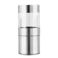 Wholesale Novetly Home Kitchen Tool High Quality Manual Stainless Steel Salt Pepper Mill Spice Sauce Grinder Silver