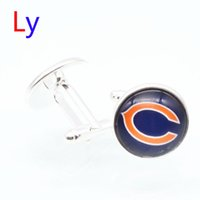 bears super bowl - Fashion super bowl Cufflink Chicago football Cufflinks Fathers Day Gifts For Bears Mens Jewelry Cuff Links YD0040