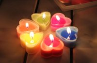 Wholesale Fashion scented candles heart shaped Color lead free Wedding birthday party Valentine s Day candle The bathroom scented candles