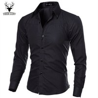 bargain fancy dress - Hot Sale Fancy Bargain priced Goods Fashion Long Sleeve Design Colors Men Shirt Elegant Casual Dress Slim Fit Men Shirts