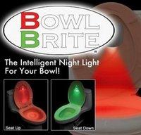 Wholesale Bowl Brite LED Toilet Night Light Sensor Motion Activated Flush Bathroom Toilet Lamp Battery Operated Night Light Color changeToilet light