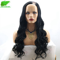 Wholesale 7A Unprocessed Brazilian U Part Wig Body Wave U Part Human Hair Wigs With Side Opening Upart Wavy Wigs For Black Women