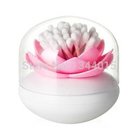 household items - 1 Creative Lotus Toothpick Cotton Swab Box Cotton Bud Holder Beautiful Practical Household Items M5521