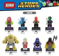 beast boy toys - X0126 Building Blocks Toy Super Heroes Avengers Marvel Starfire Saturn Girl Robin Blue Beetle Killer Croc Beast Boy Minifigures Bricks Toys