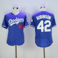 Wholesale Los Angeles Dodgers Jackie Robinson Blue Jersey Hottest Baseball Jerseys High Quality Baseball Wear Discount Cheap Baseball Wear for Men