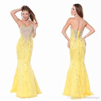 apple high school - Prom Dresses Shinny Mermaid Sweetheart Sleeveless Lace Up Back Heavily Beaded Sweep Train Chiffon High School Prom Dress Party Dresses