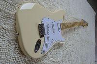 big hands guitar - New Scalloped Fingerboard Dimarzio Pickups Vintage yellow cream Guitar Big Head Electric Guitar
