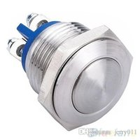 Cheap 16mm Start Horn Button Momentary Stainless Steel Metal Push Button Switch 1P2X