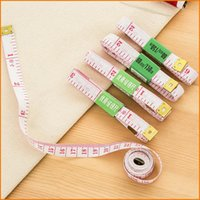 Wholesale Inch M Body Measuring Ruler Sewing Tailor Tape Measurement Measure Soft Flat Tape