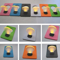 Wholesale Portable Pocket LED Card Light Lamp put in Purse Wallet Random Color Shop E2shopping