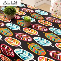 Wholesale 100 cotton canvas table cloths retro style dustproof Tablecloth Table Cover High Quality Bohemian Southeast Asia Nepal style