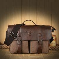al por mayor hombres de bolso de la lona de la vendimia-Sky Fantasy moda alta calidad calidades promoción de la lona negocio clásico hombres de vestir maletín mensajero bolso vintage casual bolsos