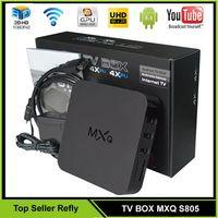Wholesale MXQ S805 TV Box KODI Amlogic S805 Quad Core Android TV BOX IPTV VS MXQ S905 M8S Plus TV BOX