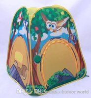 Wholesale Kids New Play Tent lovely gift High Quality Unique Design Owl toy Kid Play doll House Folding Tent for Indoor and Outdoor