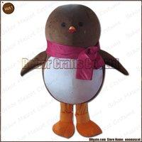 Costume de mascotte de commande Avis-Costume chaud de mascotte de pingouin la livraison libre, adulte bon marché de bande dessinée de mascotte de pingouin de peluche de haute qualité, accepte l'ordre d'OEM.