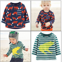 Wholesale 2016 Kids T Shirts Cotton Long Sleeve Baby Boy Tee Pieces Baby Clothes Drop Shipping