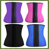 rubber corsets - Rubber Corset Shapewear Women Shapewear Steel Boned Waist Trainer Latex Sport Waist Cinchers Underbust Waist trainers Corset Belt S XL