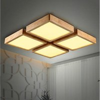 Wholesale New Creative OAK Modern led ceiling lights for living room bedroom lampara techo wooden led ceiling lamp fixtures luminaria