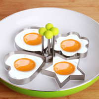 Wholesale Cook Fried Egg Pancake rings Stainless Steel Heart Shaper Mould Mold Kitchen Tool with high quality optional