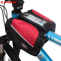 bicycle basket cover - Bicycle Accessories Bicycle Bags Panniers INBIKE Bike Front Frame Bag Bicycle Basket Cycling Pannier with Phone Case amp Rain Cover