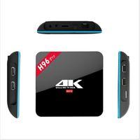 Wholesale H96 Pro TV Box Amlogic S912 bit Amlogic Core Android ARM Cortex A53 GB GB WiFi Bt4 G G H K Media Player