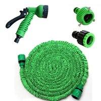 Wholesale 25FT FT Expandable Magic Flexible Garden Hose For Car Water Pipe Plastic Hoses To Watering With Spray Gun