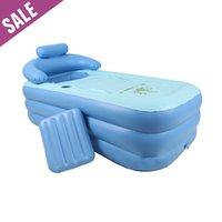 Wholesale Portable PVC Adult Warm Spa Foldable Inflatable Bathtub Safe Eco friendly Non toxic Thick Bath Tub x x cm Fast Shipping