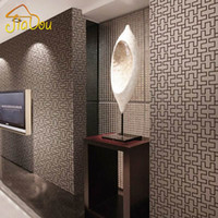 Wholesale Modern Mnimalist Abstract Geometric Wallpaper D PVC Embossed Waterproof Wall Paper Living Room TV Sofa Background Home Decor
