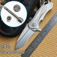 Cheap Ben MicroTech Star Lord DAIDO STEEL D2 blade Flipper folding knife Titanium outdoor camping hunting pocket knife EDC tool