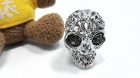 Wholesale Punk Rings Skeleton Design Rock Cluster Rings Lady Fashion Jewelry High Quality Original Package Dust Bag Gift Box AM1