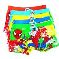 Wholesale Spiderman Bird Underwear Underpants Children Boxers Kids Boxers Boy Boxer Briefs Kids Underwear Children Clothes Kids Clothing