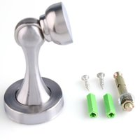 Wholesale New High Quality Stainless Steel Magnetic Door Stopper Doorstop Stop Catch Silver