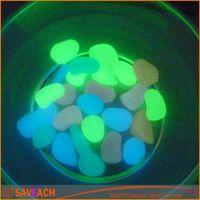 Wholesale NEW Luminous Stone Blue Green Light emitting Artificial Pebble Stone Resin Fish Tank Aquarium Decoration