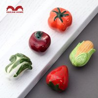 american vegetables - The cartoon in fruits and vegetables clothing and shoes cabinet door handle drawer ceramic handle children European pastoral American count