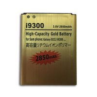 Wholesale mAh High Capacity Gold Battery Batery For Samsung GALAXY S3 SIII S III I9300 i535 i747 T999 L710 I9305 I9308